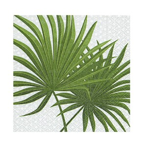 Serviett palm branch 33x33cm 20pk