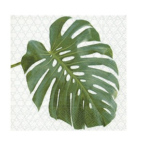 Serviett monstera 33x33cm 20pk