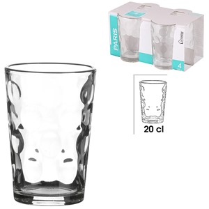 Glass Paris 4pk 20cl