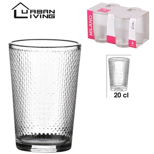 Glass Milano 4pk 20cl