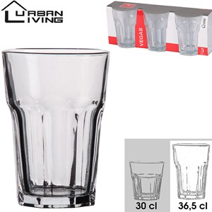 Glass 3pk Vegas 36,5cl