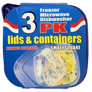 Plastboks for frys 591ml 3pk