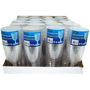 Glass plast rødvin 172ml 6pk