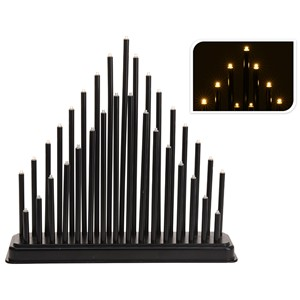 Lampe Sort, 33 led lys batteri